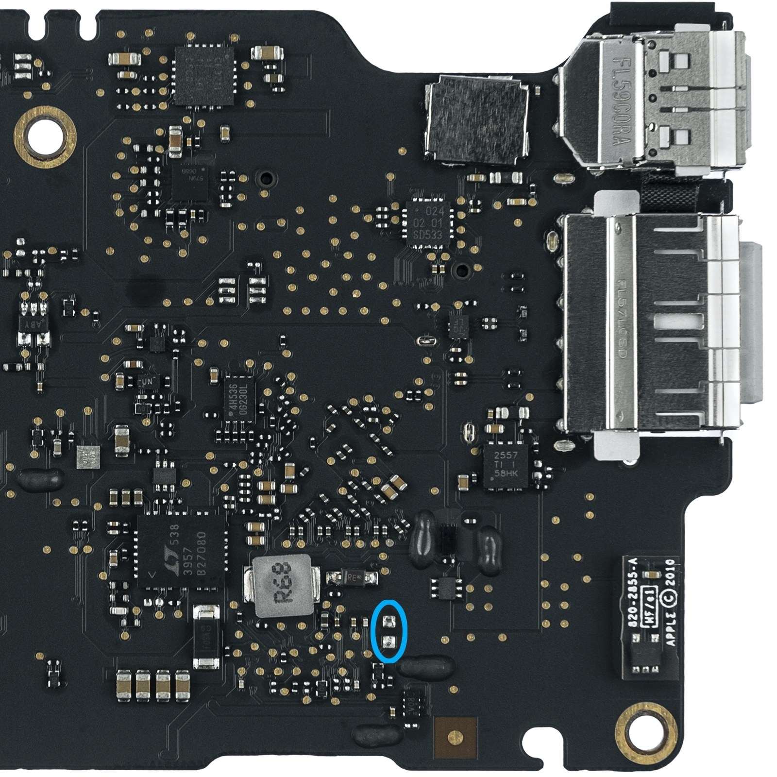 A1465 Early 2015 820-00164-03, 820-00164-A power on pads