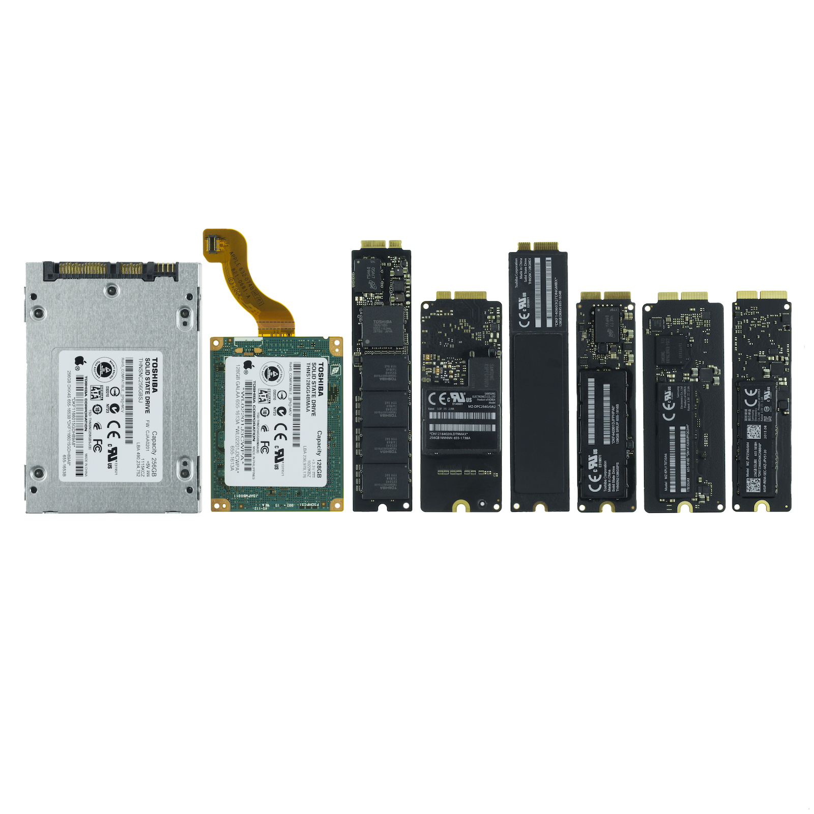 Apple SSD Line-up Old to New